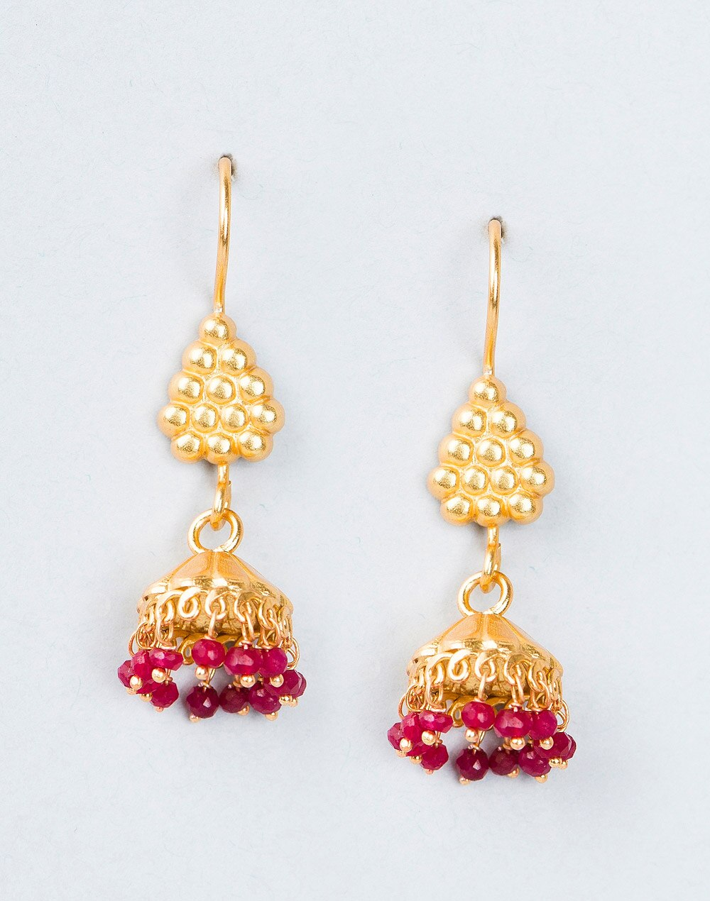 e7db22522 Buy Fabindia Silver Anusuya Es Kids 2887 Ruby Earrings Online in ...