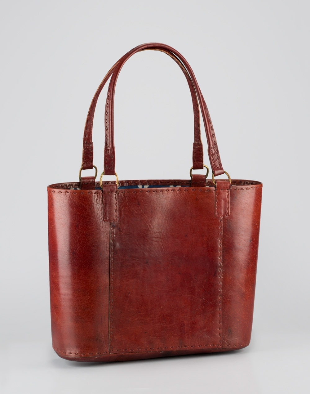 Fabindia Leather Tote Bag With