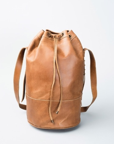 8fd9d2ed8974 Buy Fabindia Brown Leather 307 Ruck Sack Bag Online in India ...