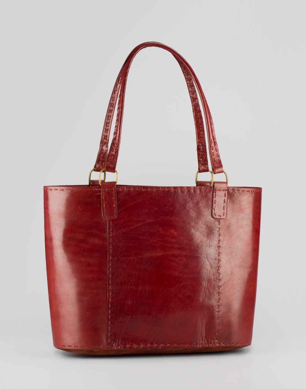 Fabindia Leather Solid Tote Bag